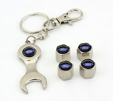 For Ford logo Tire Wheel Valve Cap Black Blue stems and Keychain Racing gift 3D