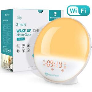 Heimvision Digital Sunrise Alarm Clock Wake up Light Sleep Aid Sunset Simulation