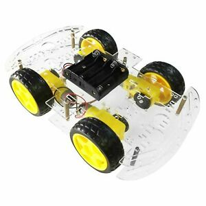 Arduino Robotic 4WD Car Chassis Project Kit ZK-4WD Pi Educational UK Stock