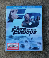 THE FATE OF THE FURIOUS F8 BLU-RAY + DVD (DIRECTOR'S CUT) BRAND NEW