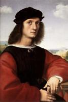 Raphael Portrait of Agnolo Doni Fine Art Poster 24x36 inch