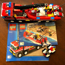 LEGO City Off-Road Fire Truck & Fireboat (7213) PLUS Partial 7207
