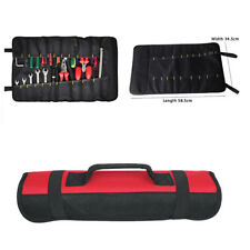 Car Red Repair Tool Roll Holder Bag Storage Pocket Socket Pouch Case Organizer