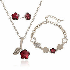 Stunning Women - Girl's Silver Plated Austrian Crystal Fashion Jewelry Set!