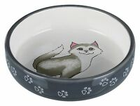 24784 Trixie Ceramic Cat Bowl For Short-Nosed Breeds Food / Water Cats Bowl Dish