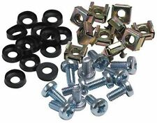 40pk Cage Nuts and Screws, Size M6x12mm