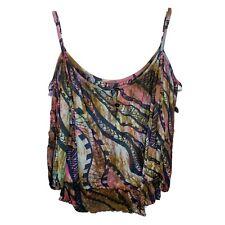 Missing Polynesia Tie Dye  Cold Shoulder Women's Blouse Top Plus Size 2 XL-2XL