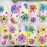 1 Sheet Adhesive 3D Nail Art Sticker Decal Colorful Flower Manicure DIY XF3022