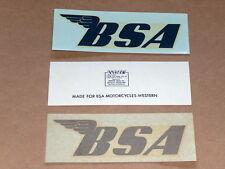 BSA Decal Set - Blue Waterslide - 441 500 650 750 single twin NOS