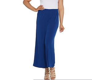 Joan Rivers Regular Pull-On Jersey Knit Palazzo Pants-Bright Navy-Large A303845