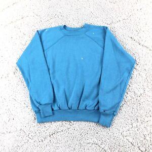 Vintage 80s womens Crew Neck sweatshirt Fits Small distressed worn Grunge Raglan