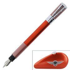 Waterman Harley Davidson Horizon Orange Fountain Pen Medium Pt In Gas Tank Box