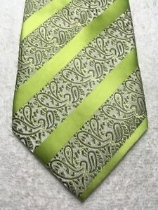 DENG YING MENS LIME GREEN WITH GOLD AND GRAY 4 X 61