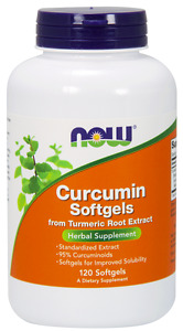 NOW Foods Curcumin Softgels Tumeric Root Extract 120 Softgels 04/22 Fresh