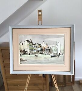 The Prospect Of Whitby and The Thames -a Watercolour By Thomas Wilkinson.