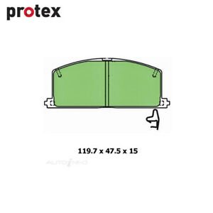 Front Brake Pad Set FOR Holden LF Nissan R34 Toyota Camry Celica 82-01 DB308