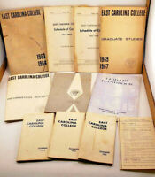 1963-1967 East Carolina College Handbook Key Bulletin Ephemera Lot Greenville NC