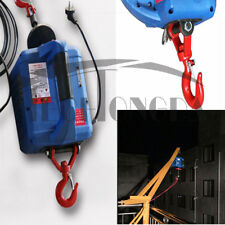 450 KG X 7.4 M Portable Household Electric hoist Winch With Wireless Remote 110V
