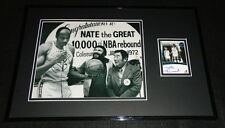 Nate Thurmond Signed Framed 11x17 Photo Display PP Warriors 10,000th Rebound