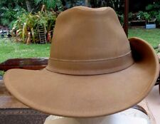 Med Brown, Flexible, Quality Henschel Western Style Hat w/Fold-able Snap Brim XL