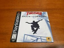 Thrasher Presents Skate and Destroy PS1 Manual Only (Sony PlayStation 1)