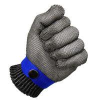 Blau Sicherheit Schnittschutz Stabbeständig Edelstahlgitter Metzgerhandschu U1H7