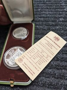 1983 ISRAEL 2-COIN PROOF SILVER SET -#800