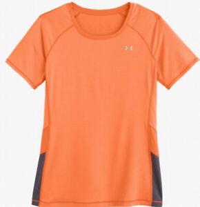 Under Armour UA Women's HeatGear Printed Short Sleeve Fitted Shirt 1248503  XL