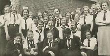 WW2  German Schoolgirls Mädels Uniform BDM Photograph (619)