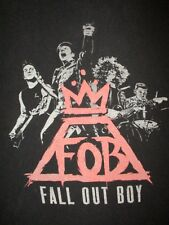 FALL OUT BOY CONCERT T SHIRT Monument Tour 2014 Cities Dates 2-Sided Tee SMALL