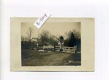 Princeton MA Mass RPPC real photo Harrington Farm, gate, cross, stone walls 1910