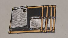 Star Trek Attack Wing (WizKids) OP Resource: Fleet Captain Cards (used)