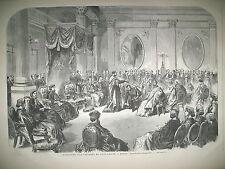 IRLANDE DUBLIN INVESTITURE D'UN CHEVALIER DE SAINT PATRICK GRAVURES 1866