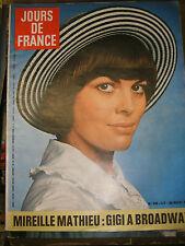 Jours de France N° 936 28 novembre 1972 Mireille Mathieu Suharto Mode Torrente