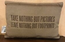 """TAKE NOTHING BUT PICTURES PILLOW, 15"""" X 10.5"""", PRIMITIVES BY KATHY"""