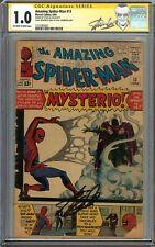 Amazing Spider-Man #13 CGC 1.0 SS STAN LEE Origin 1st app MYSTERIO Key Issue