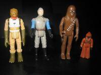 Vintage star wars lot (4) chewbacca General Madine jawa bossk hong kong