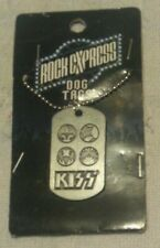 NEW KISS FACE ICON DOG TAGS NECKLACE PENDANT ROCK EXPRESS 2010 CATALOG FREE SHIP