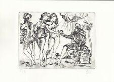 SALVADOR DALI  Original Vintage old Etching Lithograph Signed