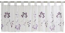 Bistrogardine Scheibengardine transparent Cappellini Floral weiß lila 198626