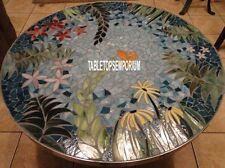"""54"""" Pauashell Marble Top Garden Table Semi Precious Inlay Occasion Outdoor Decor"""