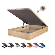 Canape Abatible Tapizado 3D 4 válvulas MAXIMA CALIDAD esquinas canapé madera
