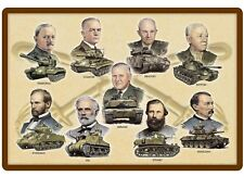 US Army Tank Names of Commanders Glossy Textured Print