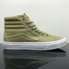 VANS SK8 HI MONO CANVAS BOA GREEN TRAINERS (UK 11)