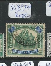 MALAYA FMS (P1205B) ELEPHANT $5.00 SG 80 FISCAL USED