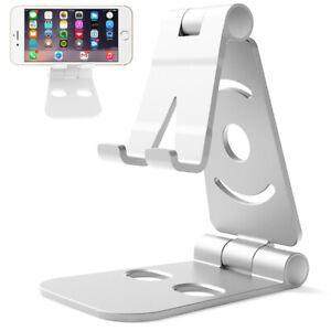 Support Téléphone Multi-Angles Réglable Aluminium Bureau Domicile Tablette