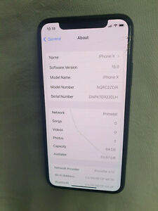 IPHONE X LCD OEM CRACKED GOOD LCD AND TOUCH