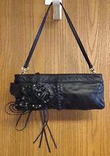 Decorative Genuine Leather Black Shoulder Bag Handbag Great Condition