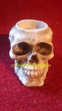 NEW DESIGN RUBBER LATEX MOULD MOULDS MOLD SMALL GOTHIC SKULL T-LIGHT CANDLE TLB