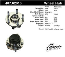 Wheel Bearing and Hub Assembly-Premium Hubs Front Centric 407.62013